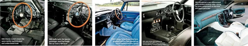 Every Model Aston Martin from DB2 to DBS V8 cabin