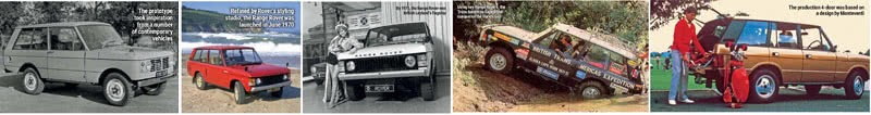 Five Decades of Range Rover Innovation Models 1