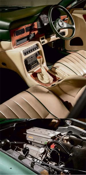 Development of Aston Martin Virages During 30 Years Interior