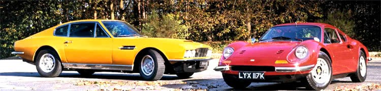 Persuasion of Aston Martin DBS vs Ferrari Dino